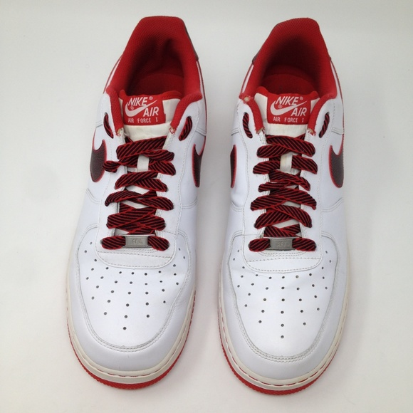 Nike Other - Nike Air Force 1 AF1 White Red Men 13 Sneakers